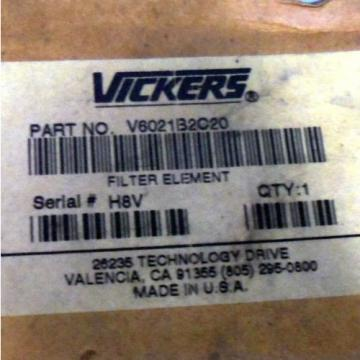 VICKERS Guinea 20µm, 194LPM MAX, 086BAR, FILTER ELEMENT V6021B2C20 Origin