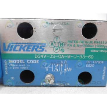 VICKERS Argentina DG4V-3S-OA-M-U-B5-60 DIRECTIONAL VALVE Origin NO BOX