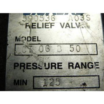 Vickers Netheriands  CT06B50 Relief Valve 125-1000 PSI 3/4