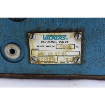 Vickers Samoa Eastern  Reducing valve DGX 06 1F 60 1000PSI USED F169