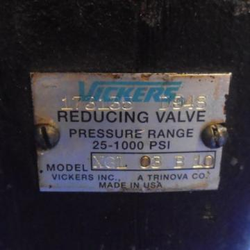 VICKERS Suriname  25-1000PSI REDUCING VALVE XGL-03-B-10