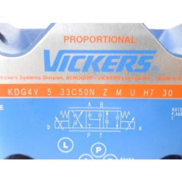 VICKERS Guyana KDG4V-5-33C50N-Z-M-U-H7-30 PROPORTIONAL VALVE Origin IN BOX