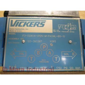 Vickers Gambia F3-DG4V4-012N-M-PA5WL-B5-10 Valve 02-393387 - origin No Box