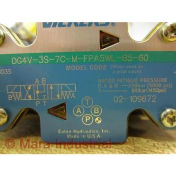 Vickers Argentina DG4V-3S-7C-M-FPA5WL-B5-60 Valve 02-109672 02109672 - origin No Box