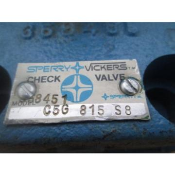 Sperry Gambia Vickers  C5G 815 S8 Hydralic Check Valve