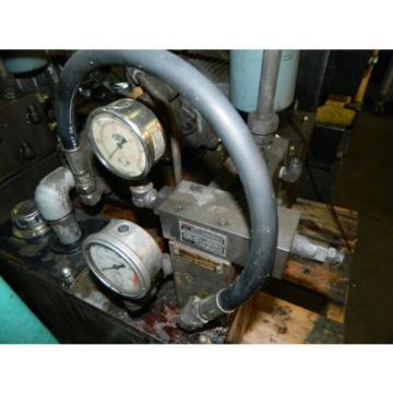 Nachi MontserratIs 3 HP 22 kW Hyd Unit w/ Tank, Nachi Uni Pump UPV-1B-22N1-22-4-Z-11