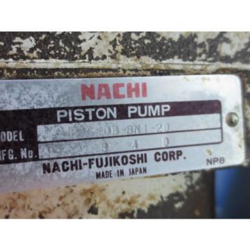 NACHI French HYDRAULIC OIL PUMP MOTOR LTIS85-NR UPV-0A-8N1-07A-4-20 PVS-0B-8N1-20