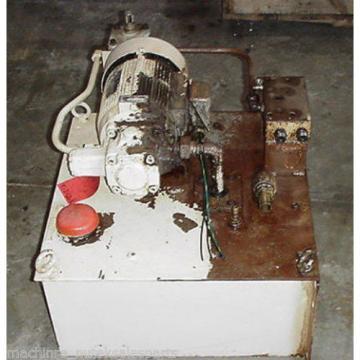 Showa Uganda Hydraulic Power Unit Tank PVU-55-0405-HX148 _ Nachi Motor LTIS70-NR