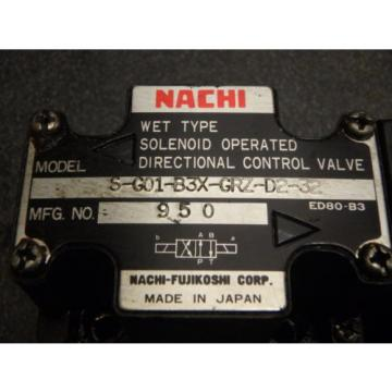Nachi Libya  Wet Type Solenoid Operated Directional Valve S-G01-B3X-GRZ-D2-32_0107-0888