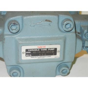 NACHI Ascension VDC-11B-1A3-1A3-U-20 Origin VARIABLE VANE PUMP VDC11B1A31A3U20