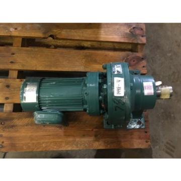 SUMITOMO SM CYCLO GEAR MOTOR, RATIO 289, WITH MOTOR, 1/2 HP, 1740 RPM , USED