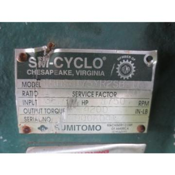 Sumitomo SM-Cyclo CHHS4175YR2SB-11 Speed Gear Reducer