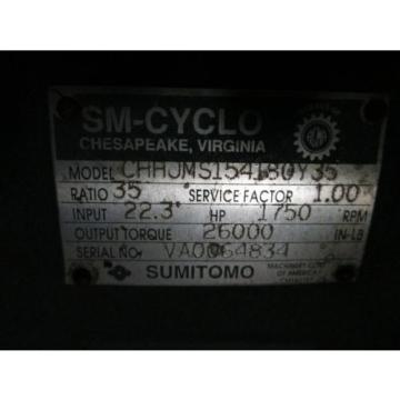 Sumitomo Gear CHHJMS154180Y35 223HP Ratio: 35 1750RPM Input Service Factor: 10