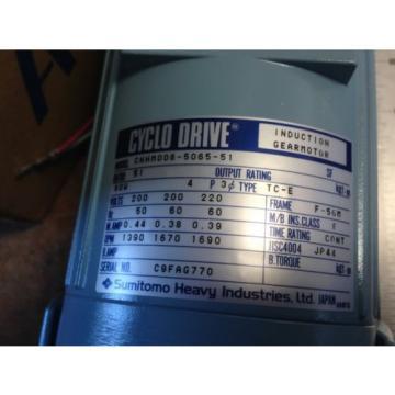 Origin SUMITOMO CNHM006-5065-51 GEAR MOTOR CYCLO DRIVE  BH