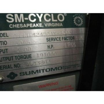 SUMITOMO SM-CYCLO GEAR REDUCER D6245/D4245/D3245 VARIOUS RATIOS
