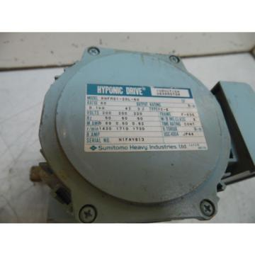 Sumitomo Hyponic Induction Geared Motor, RNFM01-20L-60, 60:1 Ratio, Used