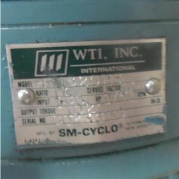 SUMITOMO SM-CYCLO 180INPUT, 1750RPM, GEAR REDUCER HS1820HS
