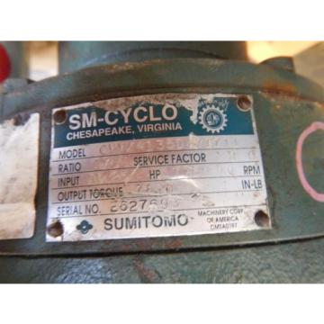 Origin Sumitomo SM-Cyclo Speed Reducer 1711:1 Ratio 25 Input HP 7810 Torque Origin
