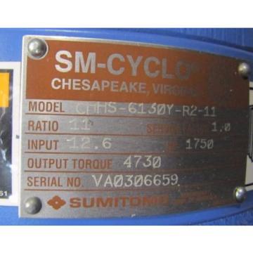 SUMITOMO CHHS-6130Y-R2-11 SM-CYCLO 11:1 RATIO SPEED REDUCER GEARBOX Origin