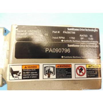 SUMITOMO RNY-1220Y-10 HYPONIC REDUCER HP: 536 RATIO: 10 RPM: 1750 SF: 100