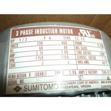SUMITOMO DRIVE TECHNOLOGY CNFMS05-6075YA-21 CYCLO DRIVE w/ INDUCTION MOTOR