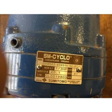 SM-CYCLO S-TC-F 1-PHASE INDUCTION MOTOR SUMITOMO CNHM503-6095YA-SG-87