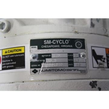 SUMITOMO SM-CYCLO CNVMS02-4100-A-119 GEAR MOTOR 119:1