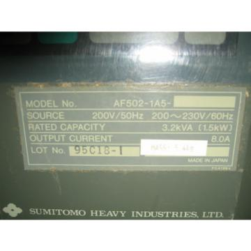 Sumitomo AF500 AF502-1A5 SMAC PAC AC  Motor Controller variable freq inverter