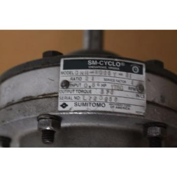 Sumitomo - SM Cyclo - CHH4085Y21 - Ratio 21 - Input 54 - HP 1750 RPM - TORQ 378