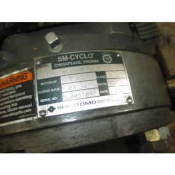 SUMITOMO SM CYCLO CFHM8-4155YB-AV-B-21-1 75 HP W BRAKE SURPLUS FLANGE