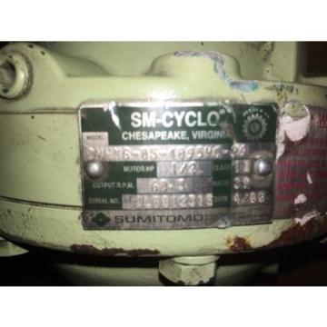 Sumitomo Cyclo gearmotor CNHMS-05-4095YC-29, 292 rpm, 29:1, 5hp, 230/460,inline