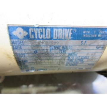 SUMITOMO CYCLO DRIVE VM02-209 CNC WITH LOWER GEAR