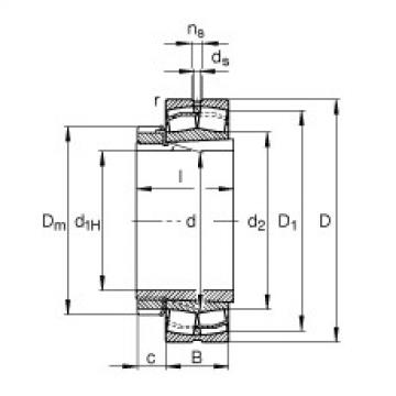 Bearing 23236-E1-K-TVPB + H2336 FAG