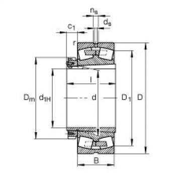 Spherical Roller Spherical Roller Bearing 239/670-B-K-MB + H39/670-HG FAG
