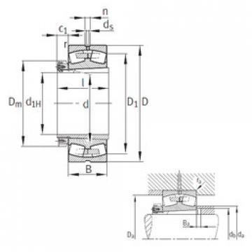 Spherical Roller Spherical Roller Bearing 239/670-B-K-MB+H39/670 FAG