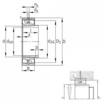 Spherical Roller Spherical Roller Bearing 239/670-B-K-MB+AH39/670 FAG