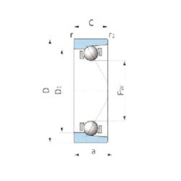 Angular Contact Ball Bearing VTAA19Z-3A NSK