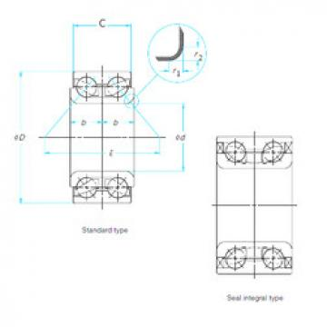 Angular Contact Ball Bearing XGB41140.P SNR