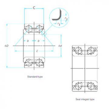 Angular Contact Ball Bearing XGB41688P SNR