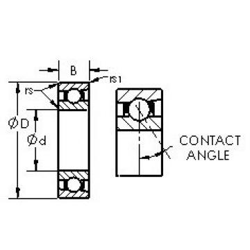 Angular Contact Bearings 71817C AST