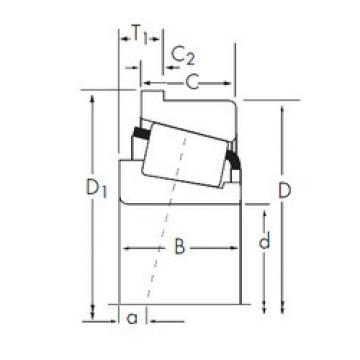 Tapered Roller Bearing XUA32215/YSB32215R Timken