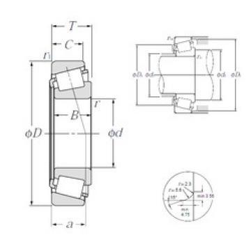 Bearing 4T-L68149/L68111 NTN