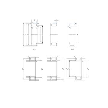 NCF28/530V SKF Cylindrical Roller Bearings