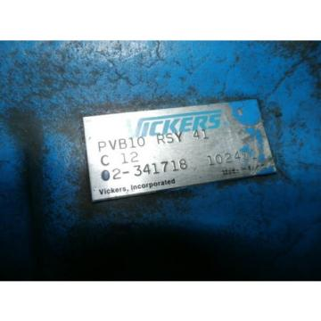 Vickers, United States of America  Hydraulic Pump, PVB10RSY41