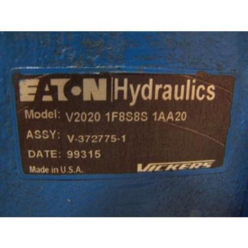 Origin Haiti EATON VICKERS HYDRAULIC VANE PUMP V2020-1F8S8S-1AA20  PORTS 3/4#034;