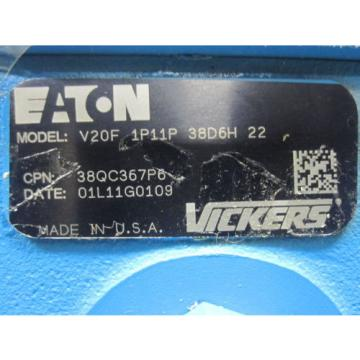 Origin Guinea  EATON VICKERS POWER STEERING PUMP # V20F-1P11P-38D6H-22