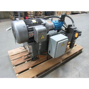 VICKERS Netheriands  T50P-VE Hydraulic Power Unit 25HP 2000PSI 33GPM 70 GalTank