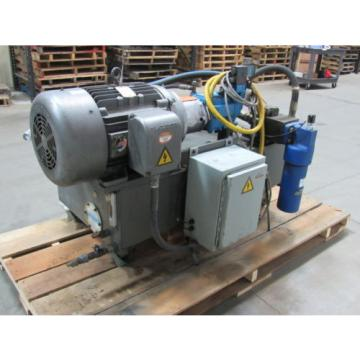 VICKERS Rep.  T50P-VE Hydraulic Power Unit 25 HP 2000PSI 33GPM 70 Gal Tank
