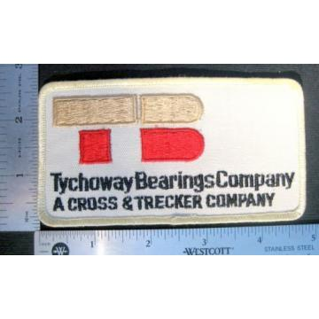 """TYCHOWAY   BEARINGS SEW ON PATCH CROSS TRECKER COMPANY ADVERTISING 5"""" x 2 1/2"""" Original import"""