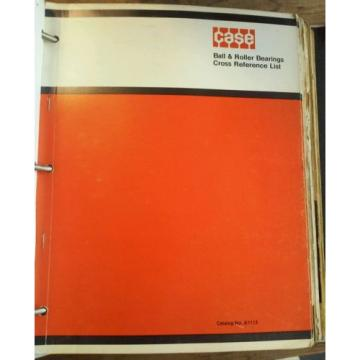Case   Equipment Ball & Roller Bearing Cross Reference Manual & Other Part Catalog Original import